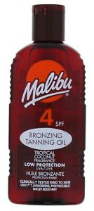 2-x-Malibu-Bronzing-Tanning-Oil-SPF-4-Low-200ml-Tropical-Coconut-Sun-Care-Skin