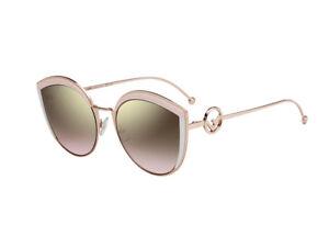rivenditore di vendita 42097 be800 Dettagli su Occhiali da Sole Fendi FF 0290/S metallo rosa marrone gradient  35J/53