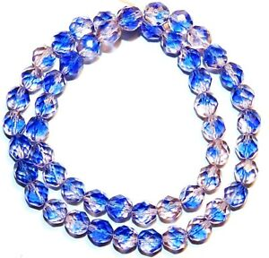 150 Preciosa Czech Glass Round Faceted Fire Polished Beads 8mm clear Crystal