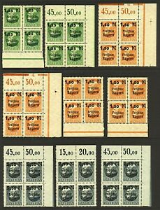 Germany-Bavaria-range-of-Freistaat-Bayern-surcharge-overprints-in-9-marg-Stamps