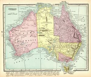Map Of Australia 1901.Details About 1901 Antique Australia Map W Tasmania Original Vintage Map Of Australia 6425