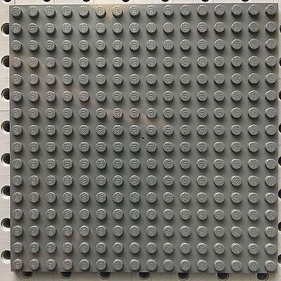 LEGO NEW 16 X 16 DOT 5 x 5 inches DARK BLUISH GREY PLATE BASEPLATE PLATFORM PART