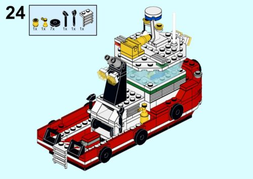 Lego MOC Harbour Tug Boat I Classic Town Style I PDF Instructions /& Parts List