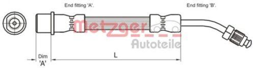 METZGER Bremsschlauch Bremsleitung Hinten links 4111108