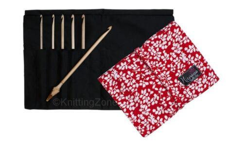 "Nirvana 7/"" Maple Wood 6 Crochet Hook Gift Set with Case CHOOSE COLOR"