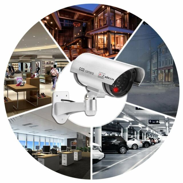 Camera Dummy Fake Wireless Waterproof Security System with LED Light