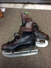 Mens Vintage Official NHL Approved Canada Hockey Ice Skate Brown Boot