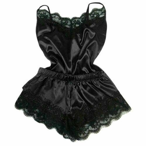 Women Nightdress Robe Lingerie Silk Dress Lace Babydoll Nightgown Sleepwear US