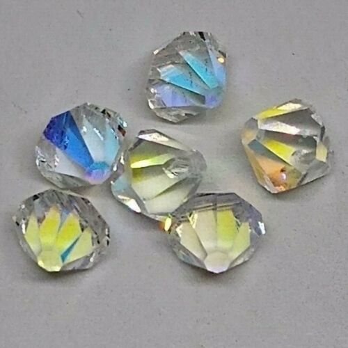 12pc Swarovski Crystal Clear AB 8mm Bicone Pendant 6301; BULK LOT; Wedding Bride