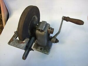 Antique-FV-Sickle-Stone-Grinder-Hand-Knives-Sharpener-Tool-Collectable-Decor-Vnt