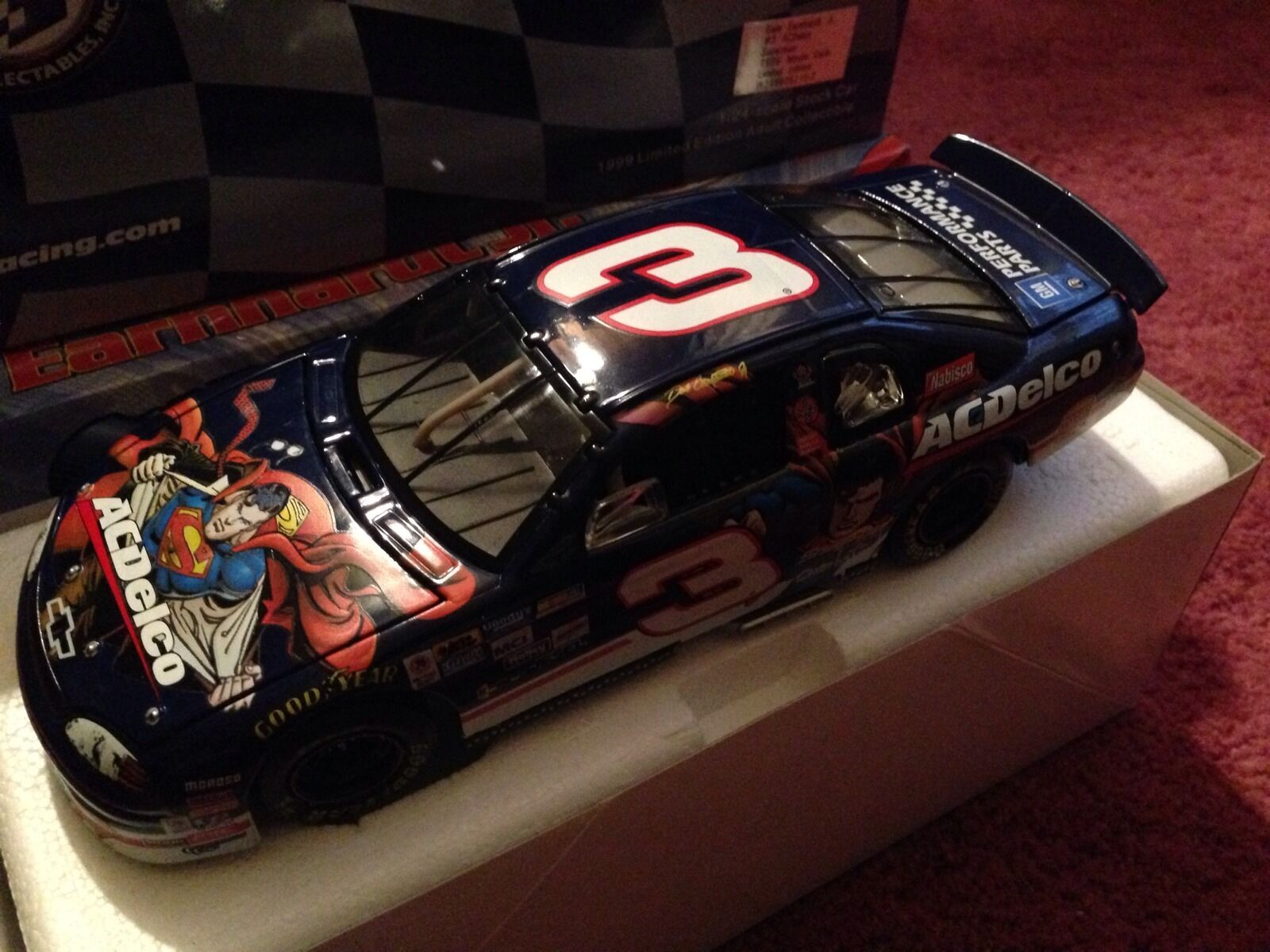 Dale Earnhardt Jr. Action NASCAR AC Delco DC Comics Superman 1 24 99 Monte Carlo