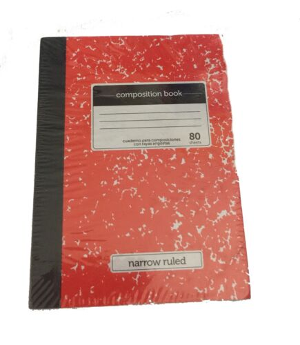 """Red Mini Marble Composition Book Fits 18/"""" American Girl Doll"""