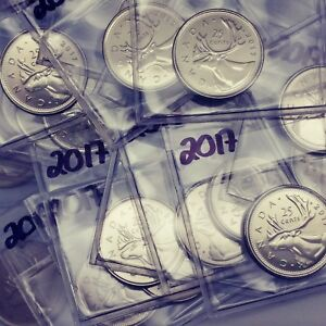 2017-Canada-25-Cents-Caribou-Quarter-From-BU-Roll-Unreleased-coinsofcanada