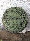 Stone garden Celtic Green Greenman round wall plaque garden ornament