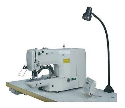 """LED task Sewing LIGHT GOOSENECK lamp Bendable steel  22"""" c-clamp 110v + 28 LED"""