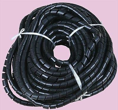 espiral cable wire Wrap Tubo Computadora administrar Cable Negro 16 millones 6mm 52,5 ft
