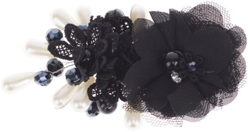 Haarspange Rockabilly Glamorous OLENE Floral Blumen PERLEN Vintage FLAPPER