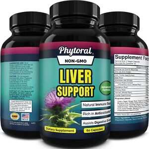 Natural Liver Support Supplement with Zinc for Immune Support detox with Milk...
