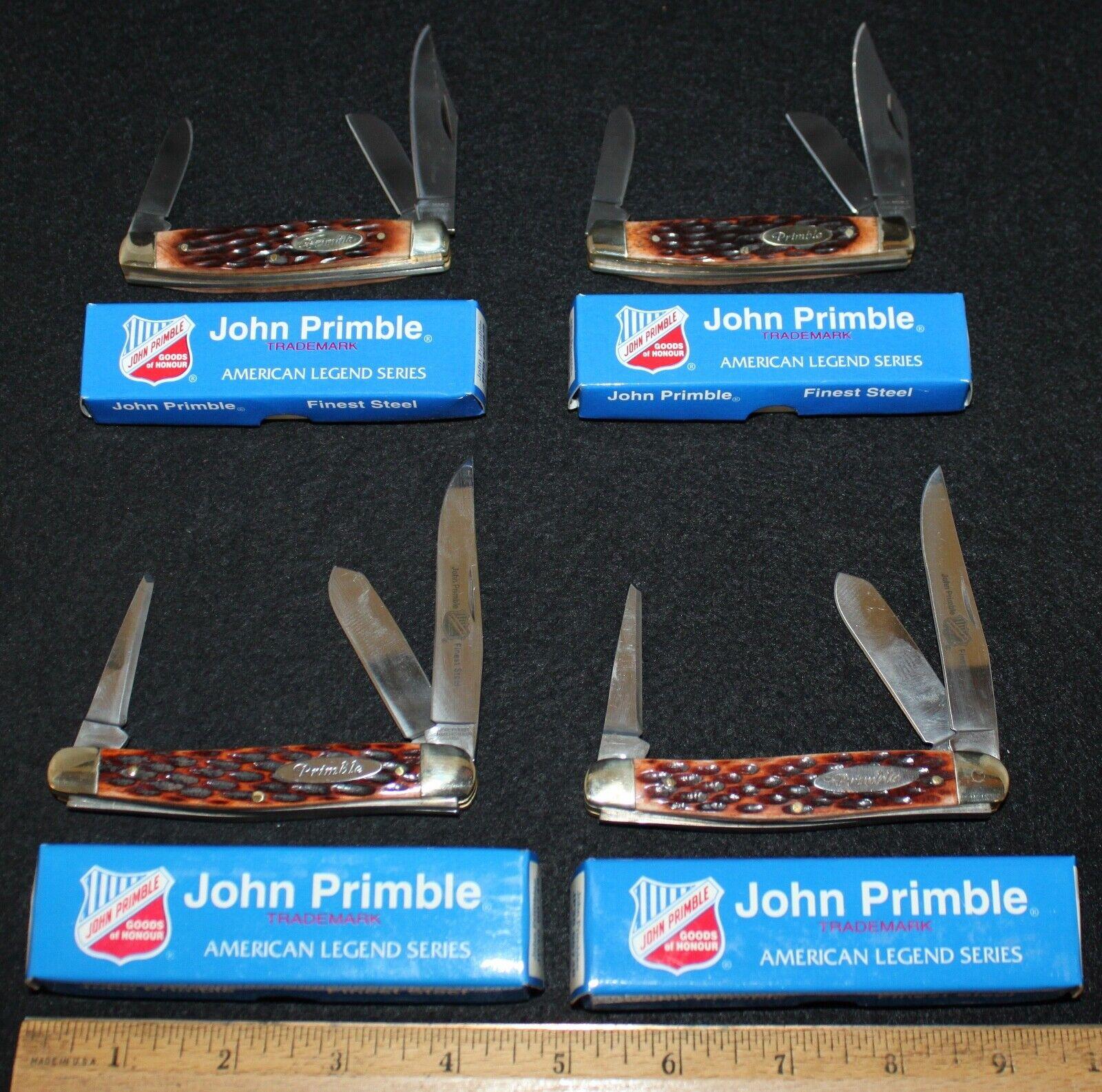 (4) John Primble Bone Handle Pocket Knives in Boxes Group #1 ---- Buy It Now!!!