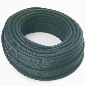 Textilkabel-Leitung-Faser-umflochten-rund-Abaca-Feldgrau-3x0-75-H03VV