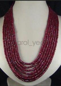 Hot-gift-AAA-NEW-2x4mm-NATURAL-RUBY-FACETED-BEADS-NECKLACE-100-034-party-women