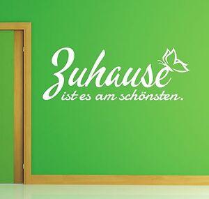 X333-WANDTATTOO-Spruch-Zuhause-ist-es-am-schoensten-Wandsticker-Wandaufkleber