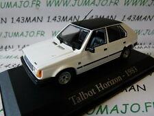 voiture 1/43 AUTOPLUS IXO : Simca TALBOT Horizon 1983 blanche toit noir