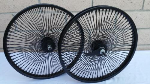 "20/"" Lowrider Bicycle Dayton BLACK Wheels 140 Spokes Front /& Rear Set 20x2.125"