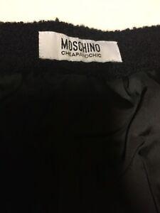 a Cheap Moschino taglia And Gonna tubino o 4 Textured Chic Wool Black 6 0dOqd
