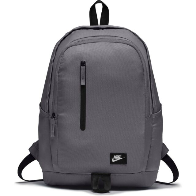 Men s Nike All Access Soleday Backpack Rucksack Bag Grey 25L Inter Laptop  Sleeve 10c1bc011c88f