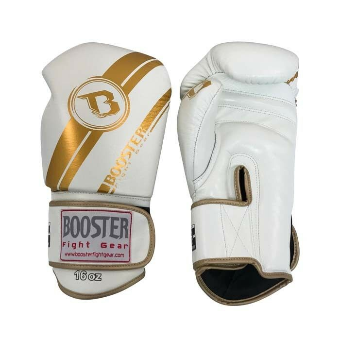 BGL 1 V3 Weiß/GOLD, Booster Boxhandschuhe, echt Leder, Leder, echt 12-16 OZ, Muay Thai, bf098f