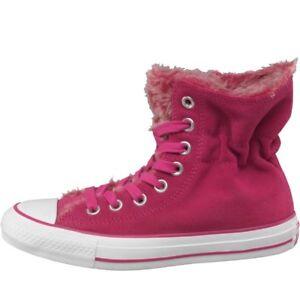 Converse CT All Star Hi TRENCH PELLICCIA Scarpe da ginnastica rosa UK 5.5 EU 38 nuovo con scatola