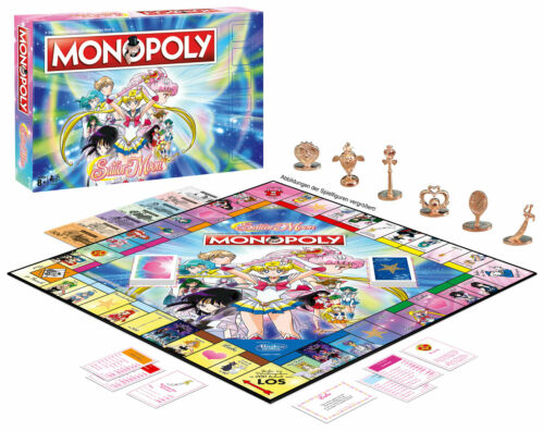 Monopoly-Sailor Moon-Winning Moves 44789-NUOVO