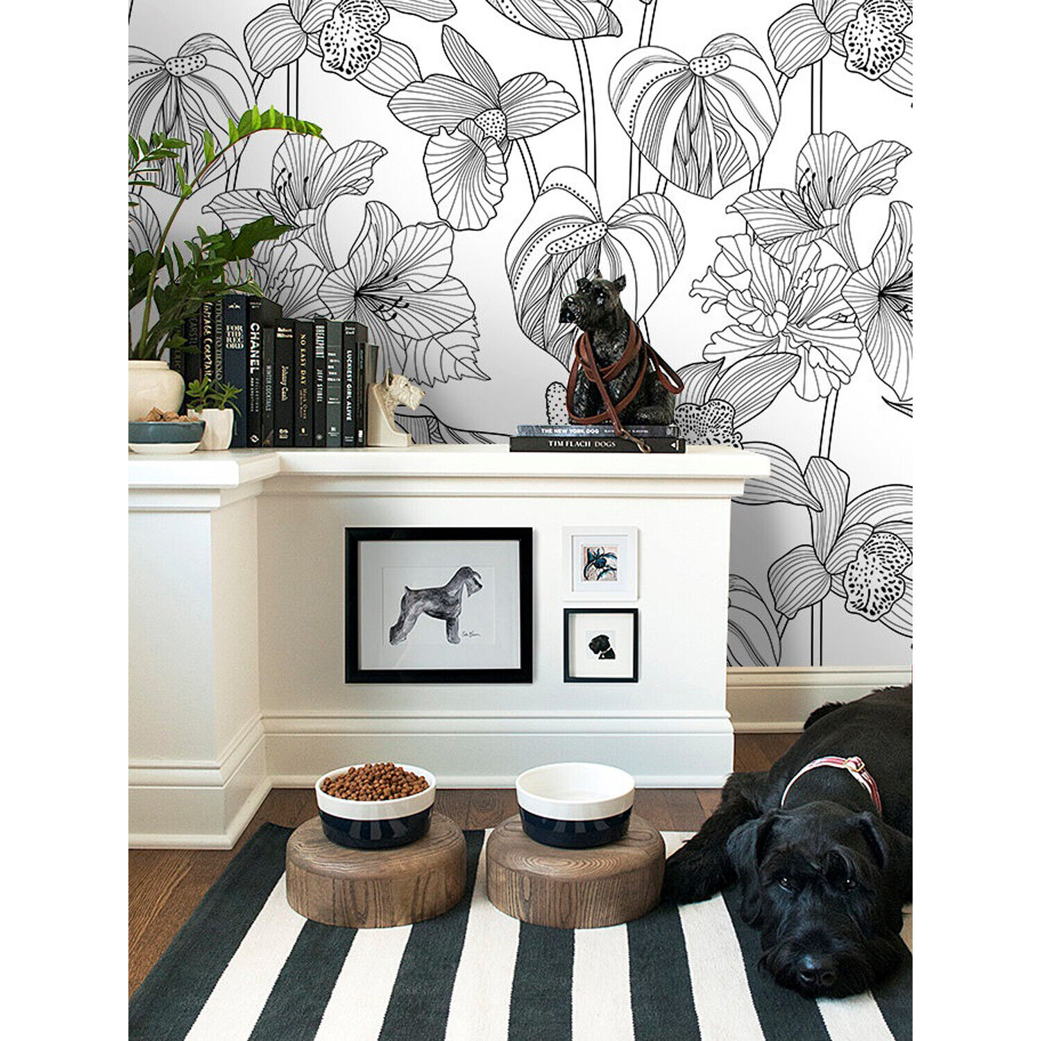 Floral Non-woven wallpaper Grün and Weiß Home wall mural wall cover in