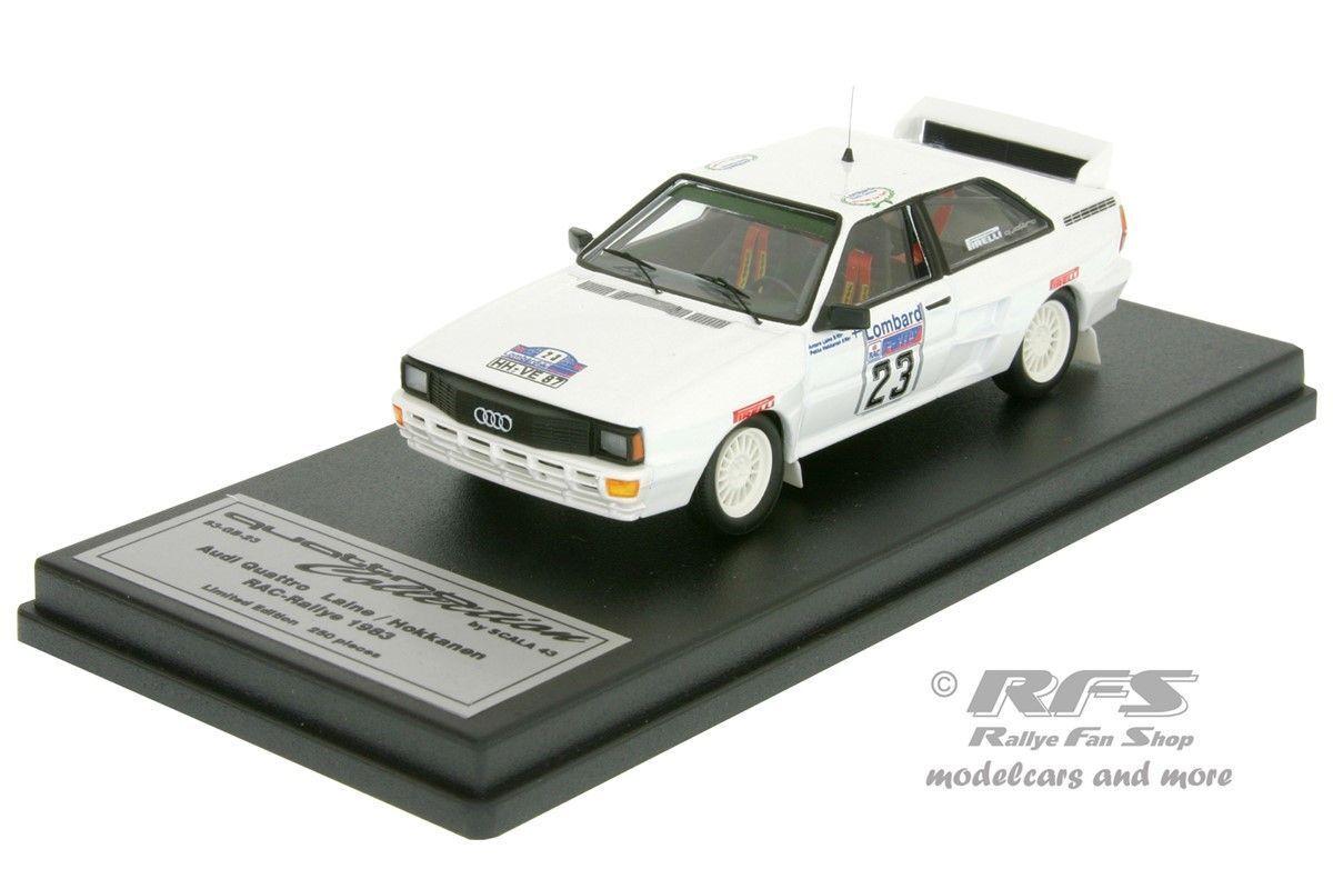 AUDI quattro a2-RAC Rallye 1983-laine - 1 43 TROFEU SCALA 43 q83-gb-23