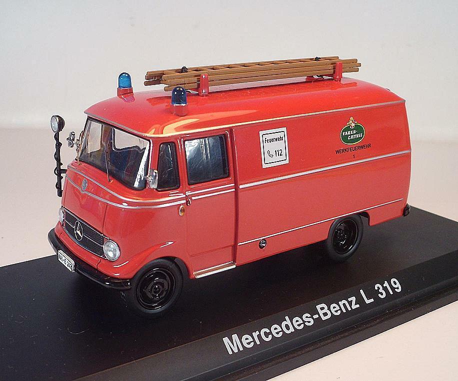 Schuco  MERCEDES BENZ L 319 VIGILI DEL FUOCO DI FABBRICA FABER CASTELL OVP  3513
