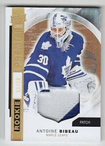 2015-16-UD-PREMIER-HOCKEY-ANTOINE-BIBEAU-RC-PATCH-1-10-GOLD-ROOKIE-R-11-Leafs
