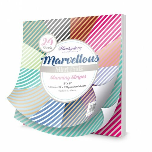 24 x 8 x 8 Feuilles-MPAD 007 Hunkydory-Merveilleux Mirri Pad-SUPERBE Rayures