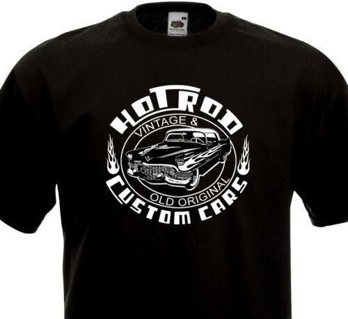 T-shirt HOT ROD Custom Cars Vintage /& Original  Kustom Kulture Cadillac 60/'s