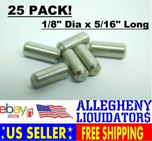 1//8 x 1 Dowel Pin Stainless Steel 18-8 Pk 25