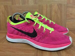 85193c9e2f02 RARE💃🏻 Nike Flyknit Lunar One+ Pink Flash Black Fireberry Volt 6.5 ...