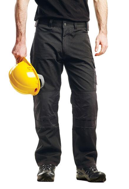 Regatta Mens Workwear Trousers Premium Cargo Kneepad Trousers Black TRJ323