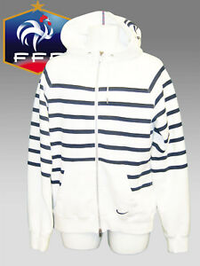 Details about New NIKE FRANCE Football Vintage AW77 Superior ZIPPED HOODIE JACKET White L