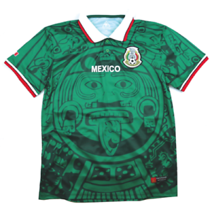 19fbfde25 Image is loading MadStrange-Mexico-1998-Home-Soccer-Jersey