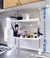 2 Tier Organiser Spice Adjustable Kitchen Rack Cabinet Shelf Storage