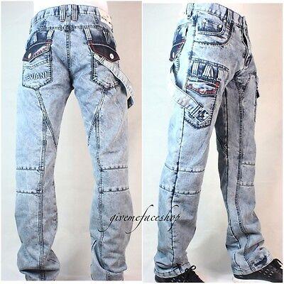 fleet urban g denim bleach star wash pants Peviani mens jeans hip hop club bar