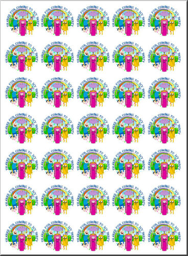 70 Adventure Time 37mm party favour stickers cone labels birthday parties