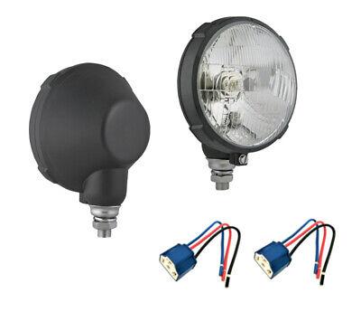 2x Lampenfassung 2x Traktorscheinwerfer mit Positionslicht 12V 24V Zetor Ø161 m