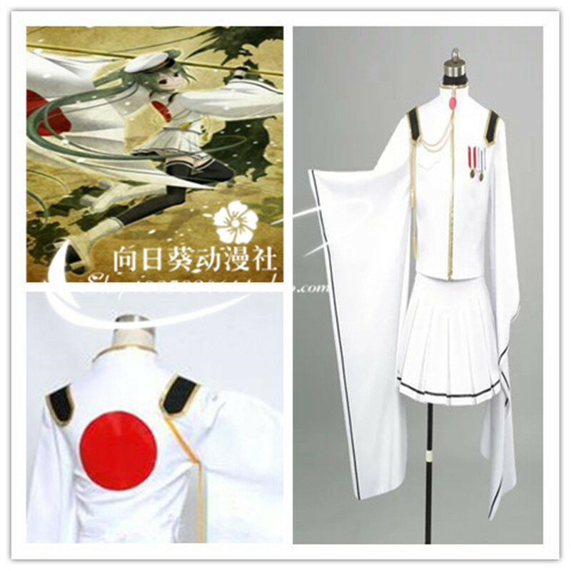 Cosplay Costume Senbonzakura Vocaloid Hatsune Miku Army Military Uniforms Outfit