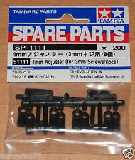Tamiya 51111 Ajustador 4mm (para Tornillos 3mm/8 Pcs.) (TRF416/TRF417/TRF418/TRF419)